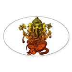 Ganesha7 Sticker (Oval 50 pk)