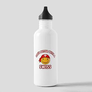 Cute Swiss design Stainless Water Bottle 1.0L