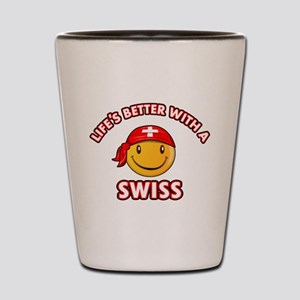Cute Swiss design Shot Glass