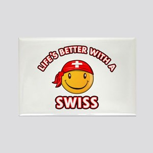 Cute Swiss design Rectangle Magnet