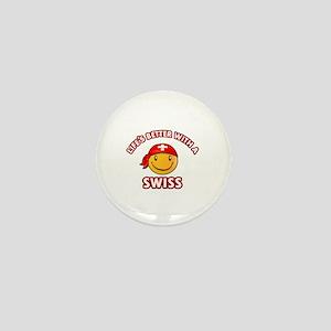 Cute Swiss design Mini Button