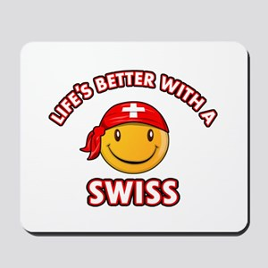Cute Swiss design Mousepad