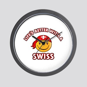 Cute Swiss design Wall Clock