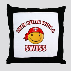 Cute Swiss design Throw Pillow