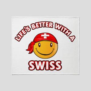 Cute Swiss design Throw Blanket