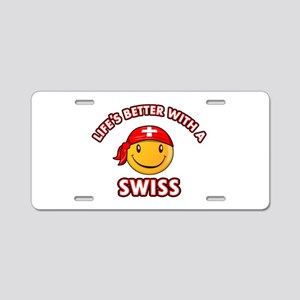 Cute Swiss design Aluminum License Plate