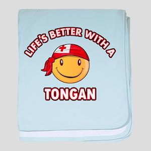 Cute Tongan design baby blanket