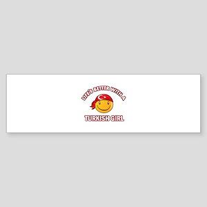Cute turkish girl designs Sticker (Bumper)