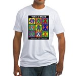 Take a Stand Cancer Ribbons Fitted T-Shirt