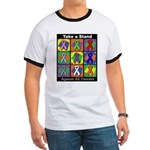 Take a Stand Cancer Ribbons Ringer T