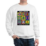 Take a Stand Cancer Ribbons Sweatshirt
