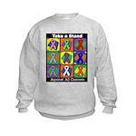 Take a Stand Cancer Ribbons Kids Sweatshirt