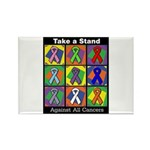 Take a Stand Cancer Ribbons Rectangle Magnet