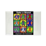 Take a Stand Cancer Ribbons Rectangle Magnet (100