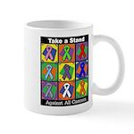 Take a Stand Cancer Ribbons Mug