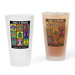 Take a Stand Cancer Ribbons Drinking Glass