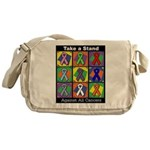 Take a Stand Cancer Ribbons Messenger Bag