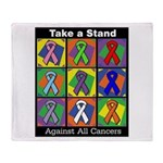 Take a Stand Cancer Ribbons Throw Blanket