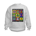 Supporting All Causes Kids Sweatshirt