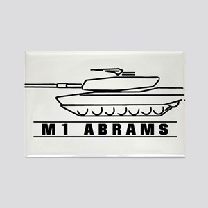 M1 Abrams Rectangle Magnet