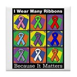 Ribbons Because It Matters Tile Coaster