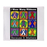 Ribbons Because It Matters Throw Blanket