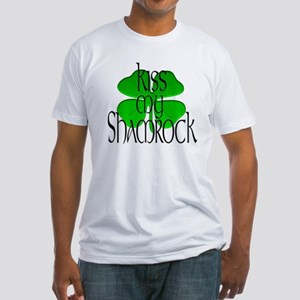 KISS MY SHAMROCK Fitted T-Shirt