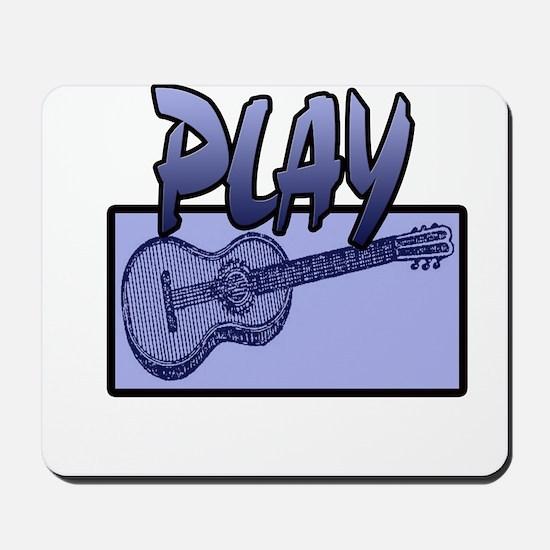 PLAY GUITAR- BLUE Mousepad