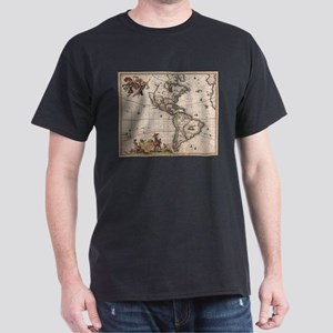 Vintage Map of North and South America (16 T-Shirt