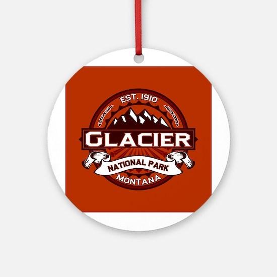 Glacier Crimson Ornament (Round)