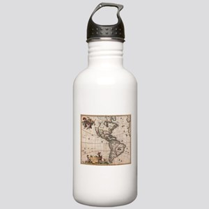 Vintage Map of North a Stainless Water Bottle 1.0L