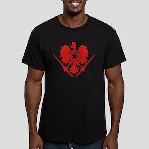 Polish Drummer Men's Fitted T-Shirt (dark)