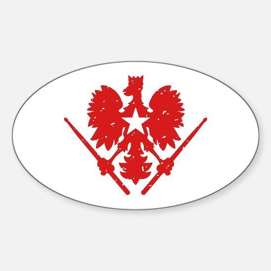 Polish Drummer Sticker (Oval)