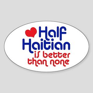 Half Haitian Sticker (Oval)