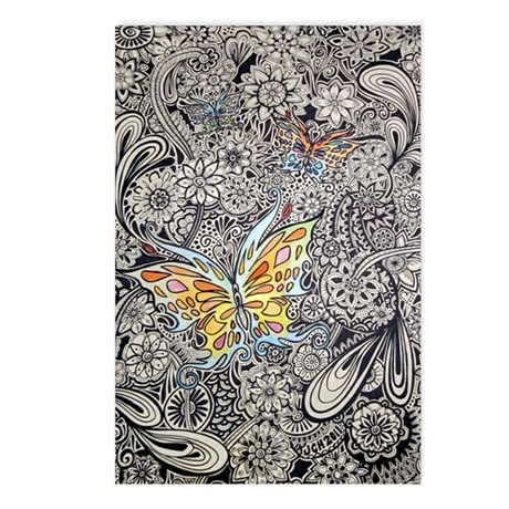 Butterfly Ink Postcards (Package of 8)