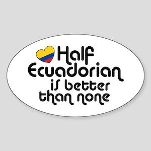 Half Ecuadorian Sticker (Oval)