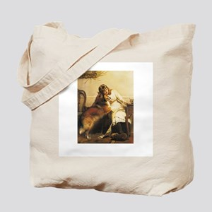 Girl and Collie Tote Bag
