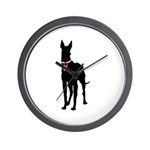 Great Dane Breast Cancer Support Wall Clock