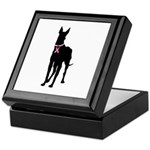 Great Dane Breast Cancer Support Keepsake Box
