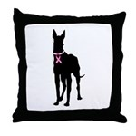 Great Dane Breast Cancer Support Throw Pillow