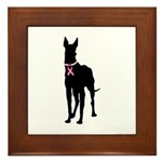 Great Dane Breast Cancer Support Framed Tile
