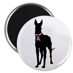 Great Dane Breast Cancer Support Magnet