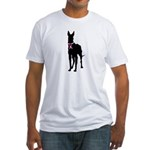 Great Dane Breast Cancer Support Fitted T-Shirt