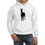 Great Dane Breast Cancer Support Hooded Sweatshirt
