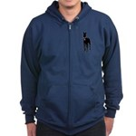 Great Dane Breast Cancer Support Zip Hoodie (dark)