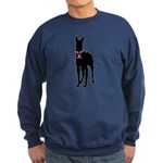Great Dane Breast Cancer Support Sweatshirt (dark)