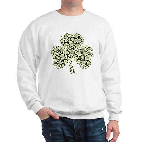 Irish Shamrock Made Of Skulls Sweatshirt