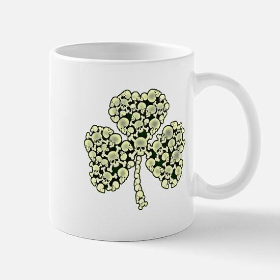 Irish Shamrock Made Of Skulls Mug