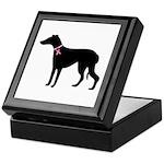 Greyhound Breast Cancer Support Keepsake Box