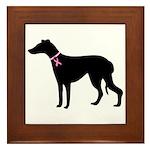 Greyhound Breast Cancer Support Framed Tile
